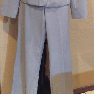 Worthington Works gray wide leg suit slacks 8 Long